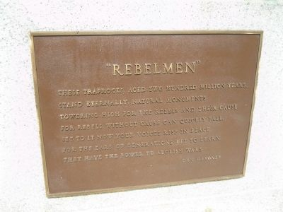 Marker on Left Side of Monument image. Click for full size.