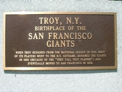 San Francisco Giants - Troy, NY image. Click for full size.