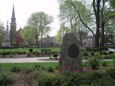 Marker on the Morristown Green image. Click for full size.