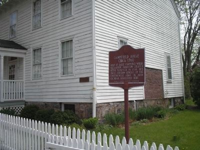Marker on Olyphant Place image. Click for full size.