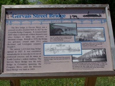 Gervais Street Bridge Marker image. Click for full size.