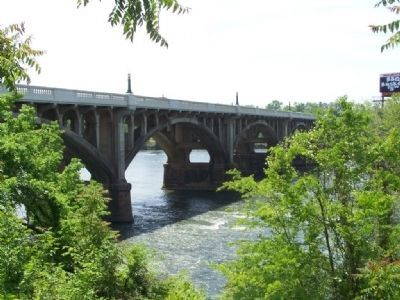 Gervais Street Bridge as seen on the Marker , today image. Click for full size.