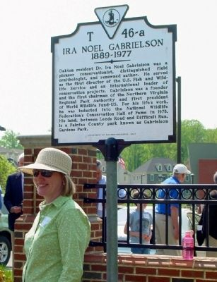 Trish Strat, Sponsor of the Gabrielson Marker image. Click for full size.