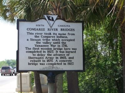 Congaree River Bridges Marker image. Click for full size.