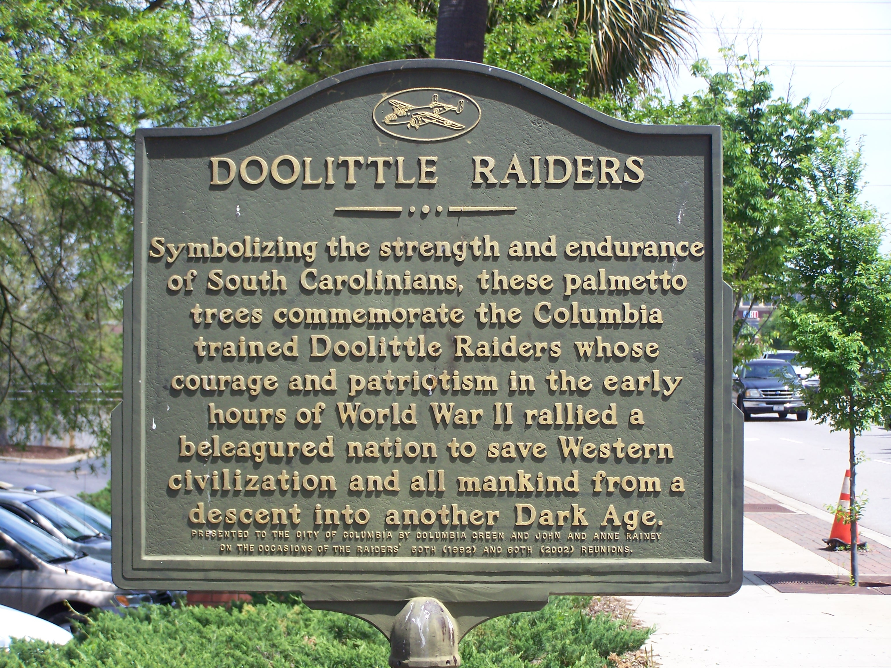 Doolittle Raiders Marker