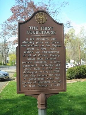 The First Courthouse Marker image. Click for full size.