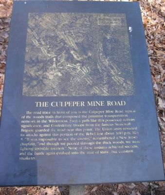 The Culpeper Mine Road Marker image. Click for full size.