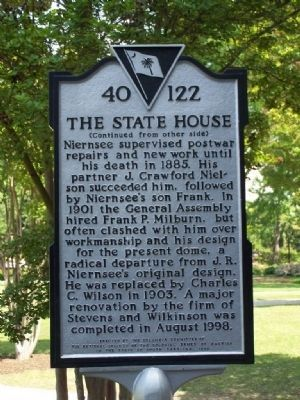 The State House Marker, side 2 image. Click for full size.