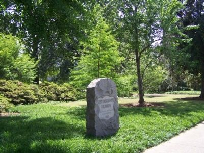 Jefferson Davis Highway Marker on State House Grounds, along Gervais Street image. Click for full size.