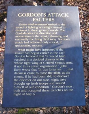 Gordon's Attack Falters Marker image. Click for full size.