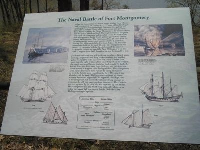 The Naval Battle of Fort Montgomery Marker image. Click for full size.