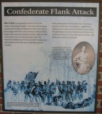 Confederate Flank Attack Panel image. Click for full size.