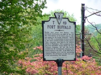 Fort Buffalo Marker image. Click for full size.