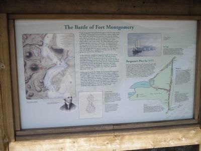 The Battle of Fort Montgomery Marker at original location image. Click for full size.