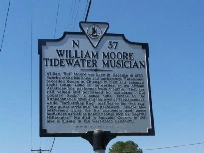 William Moore Tidewater Musician Marker image. Click for full size.