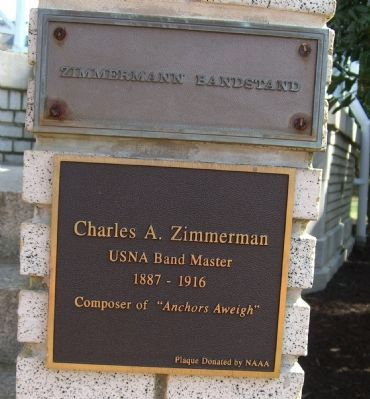 Zimmerman Bandstand Marker image. Click for full size.