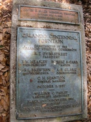 Orlando Centennial Fountain Marker image. Click for full size.