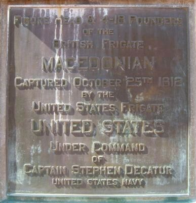 Macedonian Monument Marker </b>(back) image. Click for full size.