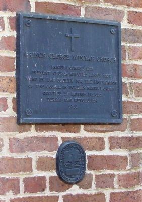 Prince George Winyah Church Marker image. Click for full size.