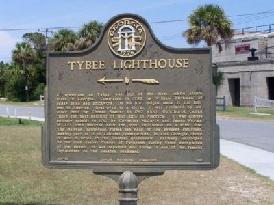 Tybee Lighthouse Marker image. Click for full size.
