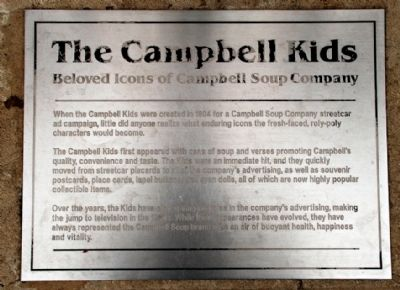 The Campbell Kids plaque at Campbell Field, Camden, NJ image. Click for full size.
