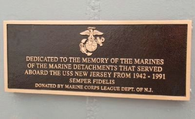 USS New Jersey Marine Detachments Marker image. Click for full size.