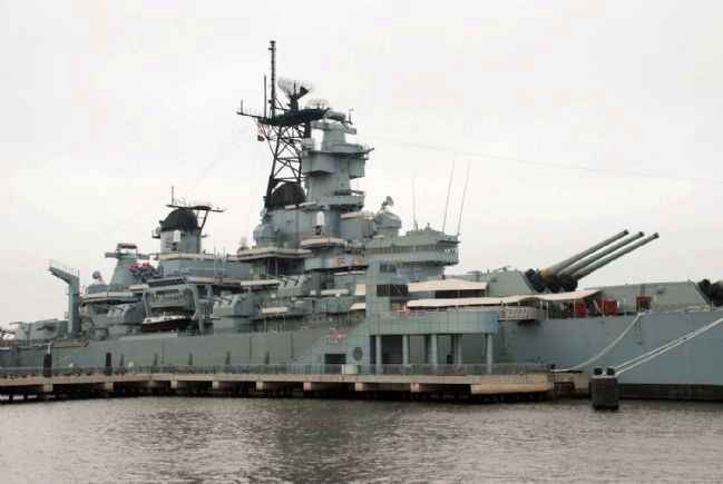 Starboard side of the Battleship New Jersey image. Click for full size.
