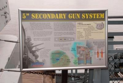 "History and operation of 5"" secondary guns image. Click for full size."