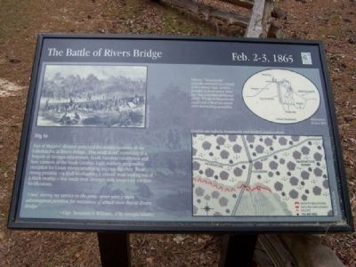 Battle of Rivers' Bridge Dig In Marker image. Click for full size.