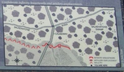 "Map, Confederate Infantry ""breastworks"" image. Click for full size."