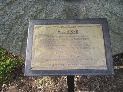 Mill Stone Marker image. Click for full size.