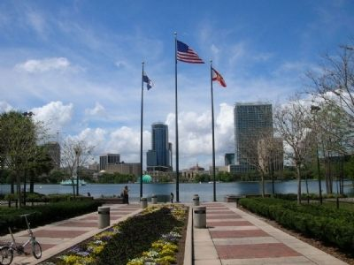 The view across Lake Eola image. Click for full size.