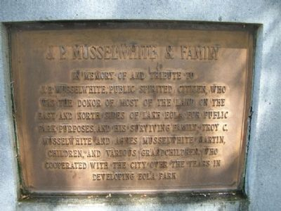 J. P. Musselwhite & Family Marker image. Click for full size.