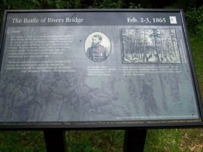 Battle of Rivers' Bridge - Attack! Marker image. Click for full size.