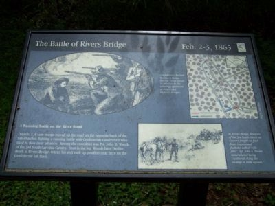 A Running Battle on the River Road Marker image. Click for full size.