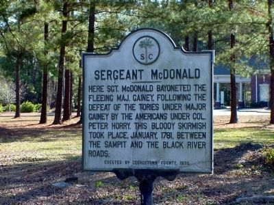 Sergeant McDonald Marker at its Former Location on Fraser Street image. Click for full size.