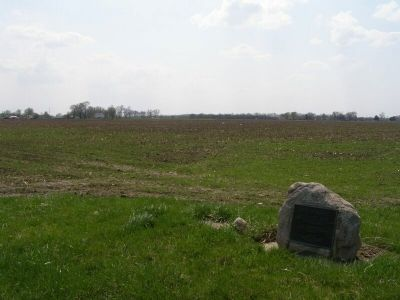Village site to the southwest (now a farm field). image. Click for full size.