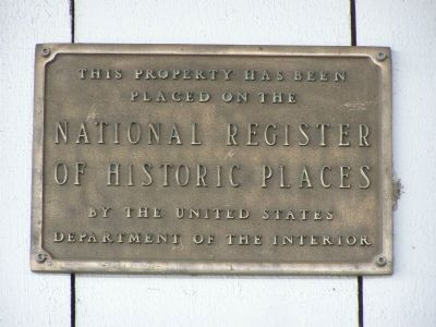 National Register Placard image. Click for full size.
