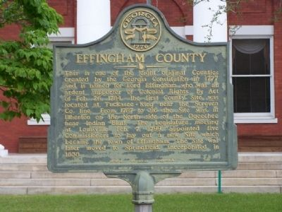 Effingham County Marker image. Click for full size.