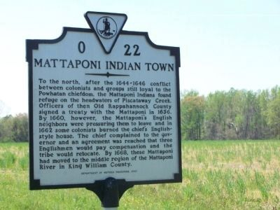 Mattaponi Indian Town Marker image. Click for full size.