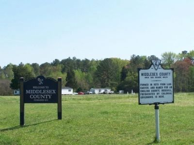 Middlesex County Welcome Sign image. Click for full size.