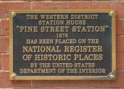 The Western District Station House Marker image. Click for full size.