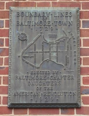 Boundary Lines of Baltimore Town Marker image. Click for full size.