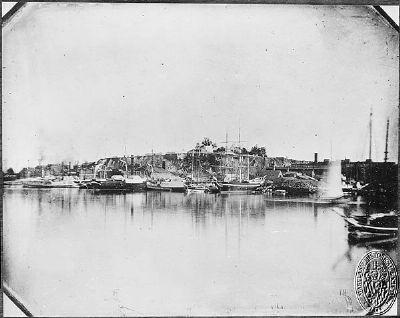 Federal Hill from Pratt Street 1849 image. Click for full size.