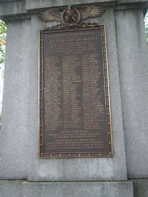 Dumont Memorial image. Click for full size.