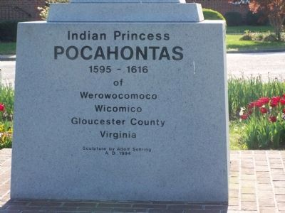 Indian Princess Pocahontas Marker image. Click for full size.