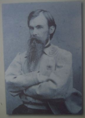 General William Mahone, picture from the McCarty Farm Marker image. Click for full size.