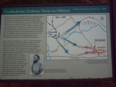 Confederate Defense Turns to Offense Marker image. Click for full size.