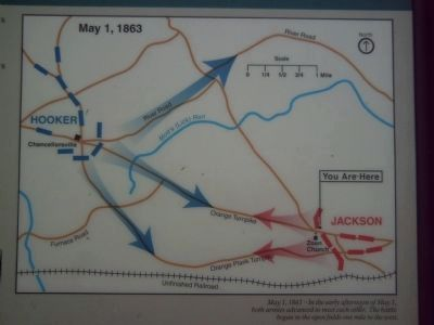 Detail of the map on the Confederate Defense Turns to Offense Marker image. Click for full size.