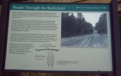 Roads Through the Battlefield Marker image. Click for full size.